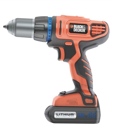 Black& Decker Drill HP146F4LBK-QW i koffert med 2 stk batterier