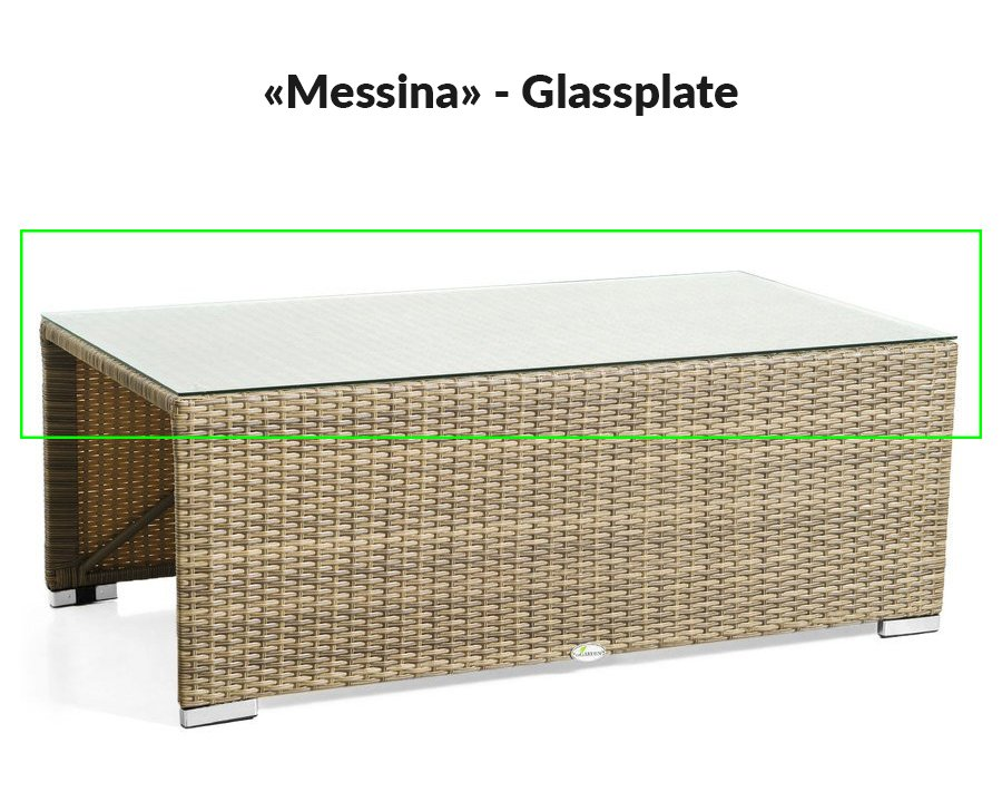 Glassplate til modell Messina